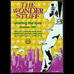 Wonder Stuff Summer 1991 Sharing the Love Tour Concert Program