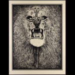 Lee Conklin Santana Lion Gold Art Print