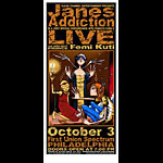 David Crosland and Jeff Wood - Drowning Creek Jane's Addiction Handbill