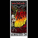 Jeff Wood and Mike Fisher - Drowning Creek Static-X Handbill