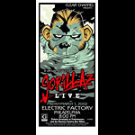 Jeff Wood and Jason Goad - Drowning Creek Gorillaz Handbill