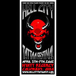 Jeff Wood - Drowning Creek Hell City Tattoo Festival Poster