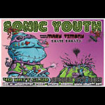 Joe Simko and Jeff Wood - Drowning Creek Sonic Youth Poster