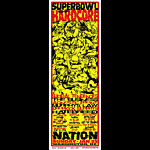 Mike Martin Johnny Thief and Jeff Wood - Low Brow Ink Superbowl Of Hardcore Poster