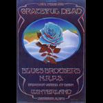 Stanley Mouse Rare Mint Grateful Dead Blue Rose  Handbill