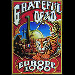 Rick Griffin Grateful Dead Europe 1990 Embossed Metal Sign