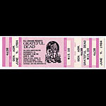 Grateful Dead 1987 Sacramento Ticket