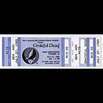 Grateful Dead 1985 Stanford Blue Ticket