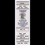 Grateful Dead 1992 Veneta Ticket