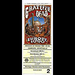 Rick Griffin Grateful Dead Europe 1990 Hamburg Ticket