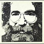 Vintage 1980's Jerry Garcia Portrait Art Print