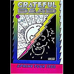 Peter Max 1988 Grateful Dead Tour  Poster