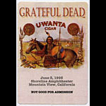 Grateful Dead 6/3/1995 Mountain View Backstage Pass