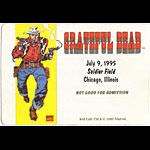 Grateful Dead 7/9/1995 Last Garcia Show Backstage Pass