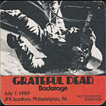 Grateful Dead 7/7/1989 Philadelphia Backstage Pass