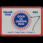 Grateful Dead 6/27/1983 Chicago Backstage Pass