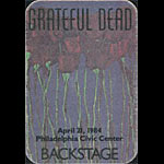 Grateful Dead 4/21/1984 Philadelphia Backstage Pass