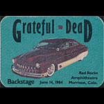 Grateful Dead 6/14/1984 Denver Backstage Pass