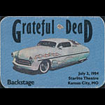 Grateful Dead 7/3/1984 Kansas City Backstage Pass