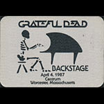 Grateful Dead 4/4/1987 Worcester MA Backstage Pass
