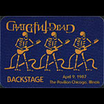 Grateful Dead 4/9/1987 Chicago Backstage Pass