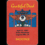 Rick Griffin Grateful Dead 4/17/1987 Irvine CA Backstage Pass