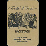 Grateful Dead 7/6/1987 Pittsburgh Backstage Pass
