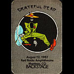 Grateful Dead 8/12/1987 Denver Backstage Pass
