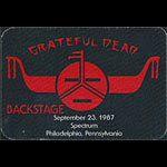 Rick Griffin Grateful Dead 9/23/1987 Philadelphia Backstage Pass