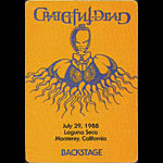Rick Griffin Grateful Dead 7/29/1988 Monterey CA Backstage Pass