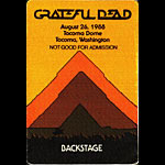 Grateful Dead 8/26/1988 Tacoma WA Backstage Pass