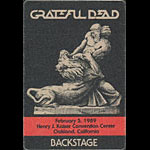 Grateful Dead 2/5/1989 Oakland Backstage Pass