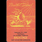 Rick Griffin Grateful Dead 2/10/1989 Los Angeles Backstage Pass