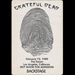 Grateful Dead 2/12/1989 Los Angeles Backstage Pass