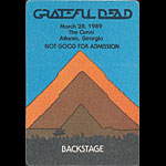 Grateful Dead 3/28/1989 Atlanta Backstage Pass