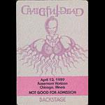 Rick Griffin Grateful Dead - Rick Griffin Artwork Backstage Pass