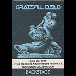 Grateful Dead 4/30/1989 Irvine CA Backstage Pass
