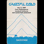 Grateful Dead 5/6/1989 Stanford (Palo Alto) CA Backstage Pass