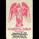 Grateful Dead 9/29/1989 Mountain View CA Backstage Pass