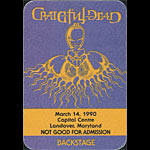 Rick Griffin Grateful Dead 3/14/1990 Washington DC Backstage Pass