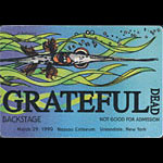 Reonegro Grateful Dead 3/29/1990 Uniondale NY Backstage Pass
