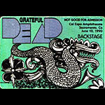 Grateful Dead 6/10/1990 Sacramento Backstage Pass