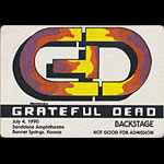 Reonegro Grateful Dead 7/4/1990 Kansas City MO Backstage Pass
