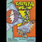 Reonegro Grateful Dead 7/6/1990 Louisville KY Backstage Pass