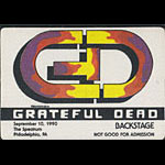 Reonegro Grateful Dead 9/10/1990 Philadelphia Backstage Pass