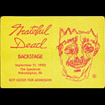 Grateful Dead 9/11/1990 Philadelphia Backstage Pass