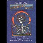 Grateful Dead 4/27/1991 Las Vegas Backstage Pass