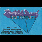 Grateful Dead 5/12/1991 Mountain View CA Backstage Pass