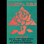 Grateful Dead 6/16/1991 NY Giants Stadium Backstage Pass