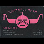 Rick Griffin Grateful Dead 6/17/1991 NY Giants Stadium Backstage Pass